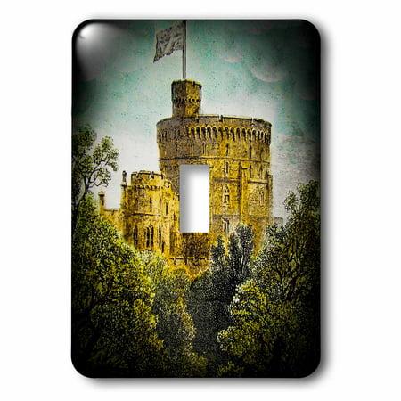 3dRose Victorian Era Magic Lantern Slide Windsor Castle Round Tower Vintage - Single Toggle Switch Round Towers Castle