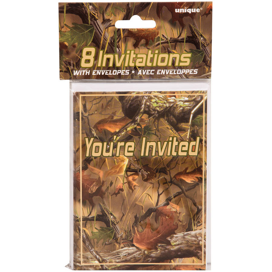 Hunting Camo Invitations, 8-Count