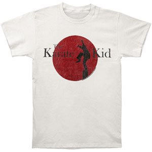 Karate Kid Men's  80's Logo T-shirt Off-White](80's Clothes For Kids)