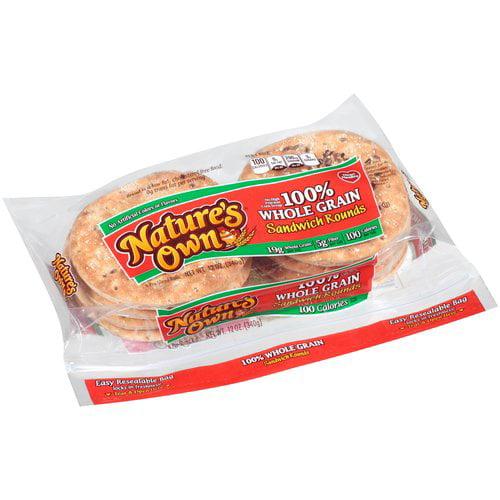 Nature's Own 100% Whole Grain Sandwich Rounds, 12 oz