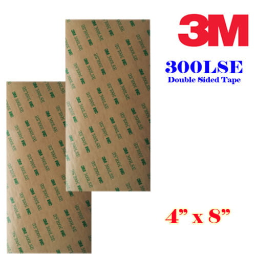 3m 300lse 4 X8 Heavty Duty Double Sided Sticky Adhesive Sheet Tape High Bond Transfer Tape Ideal for Attaching Digitizers to Phones and Tablets 10 sheet 4x8