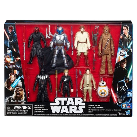 Star Wars Saga Action Figure 8 Pack with Darth Maul (Star Wars Hooded Creatures)