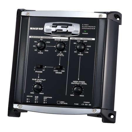 2 Way Active Electronic Crossover (Soundstorm SX210 Electronic Crossover with Remote Subwoofer Level Control, 2)