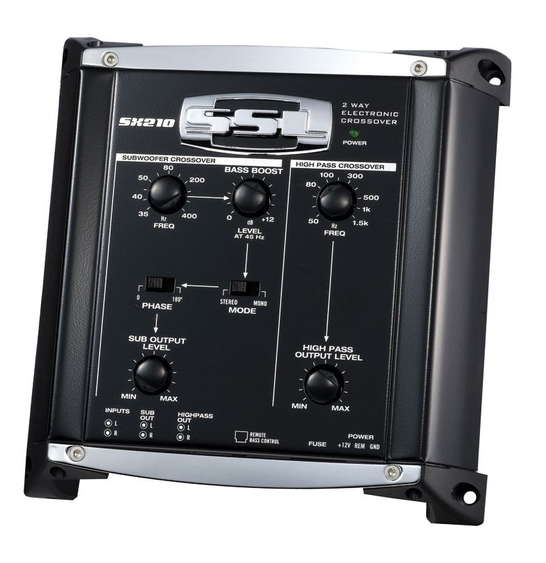 Soundstorm SX210 Electronic Crossover with Remote Subwoofer Level Control, 2 Way