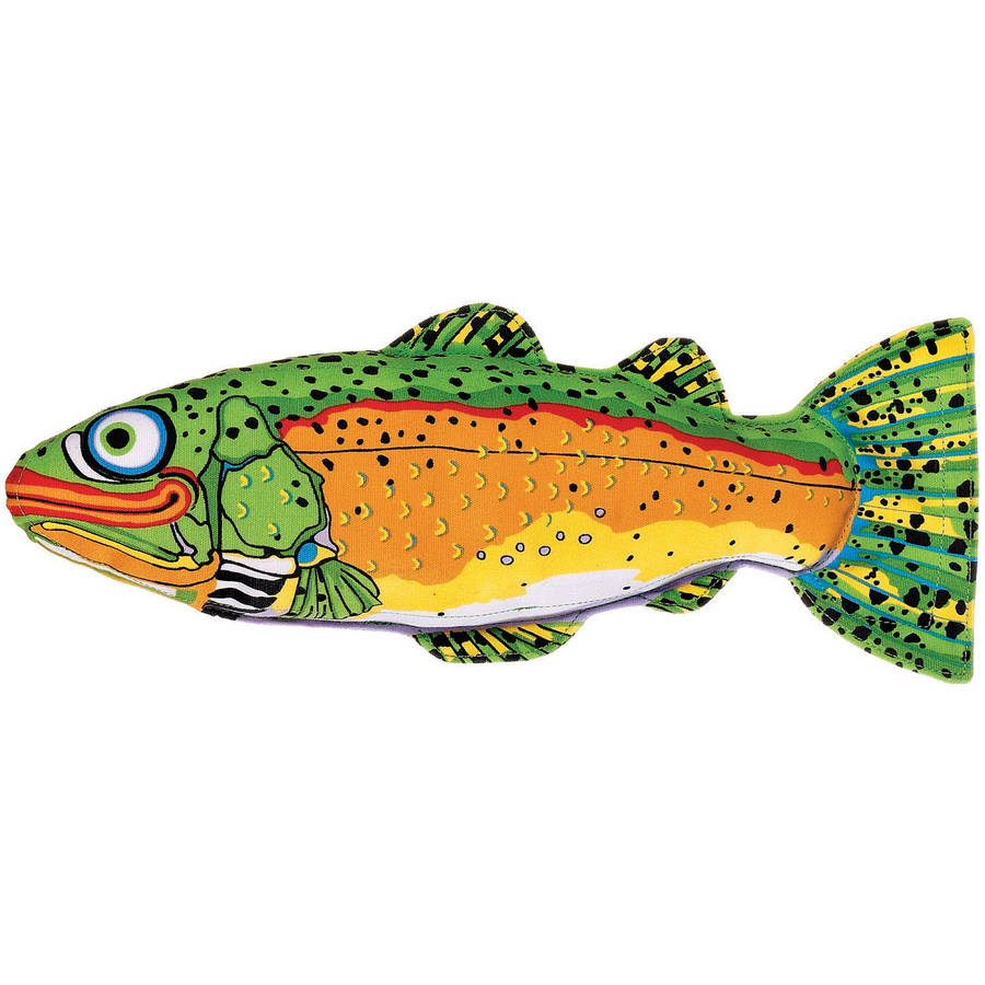 Fat Cat 660084 Incredible Strapping Yankers Trout Dog Toy, Assorted Colors