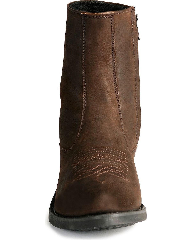 d2de8ac0d46 Old West - Old West Men's Zipper Western Ankle Boot - Mz7082 ...