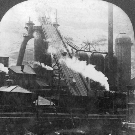 20th Century French Art - Blast Furnace, Pittsburgh, Pennsylvania, USA, Early 20th Century Print Wall Art