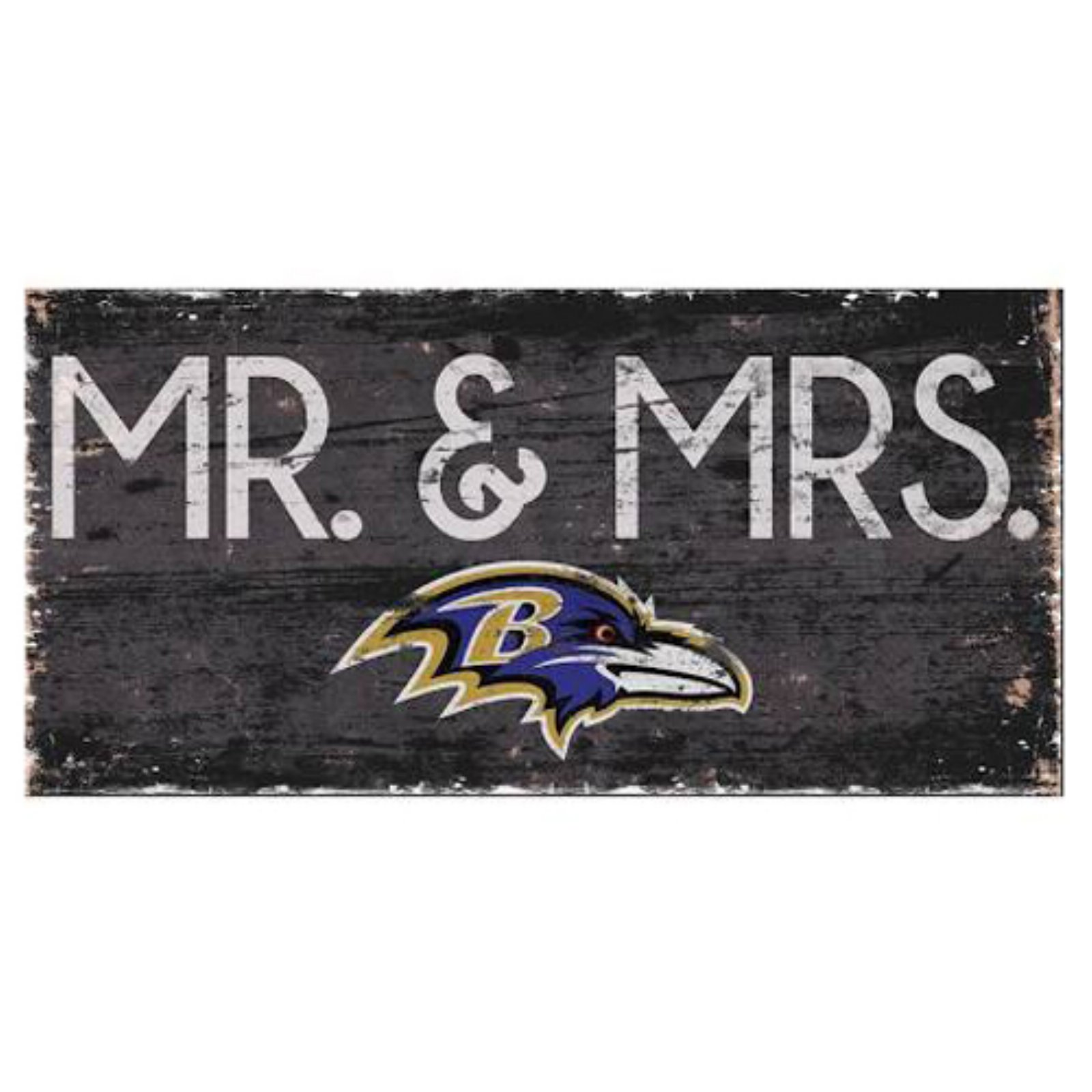 Fan Creations NFL Mr. and Mrs. Sign