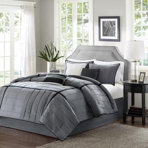 Home Essence Northridge 7-Piece Bedding Comforter Set, Gray