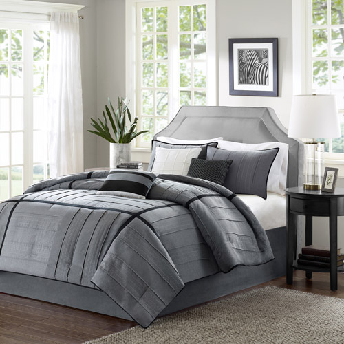 Home Essence Northridge 7-Piece Bedding Comforter Set, Gray