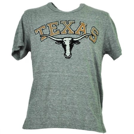 Texas Longhorns Ncaa College Tailgate - NCAA Texas Longhorns Mens Adult Felt Logo Tshirt Tee Gray Short Sleeve Sport 2XL