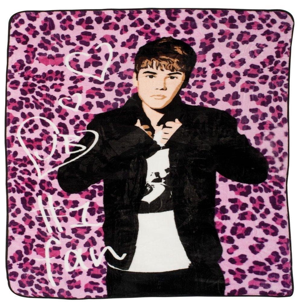 Old Glory Justin Bieber - Pink Leopard Twin Blanket