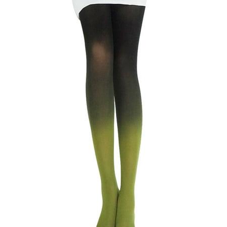 Vintage Tights (2PC Vintage Gradual Gradient Change Tights Stockings Women Girls Pantyhose Fashion)