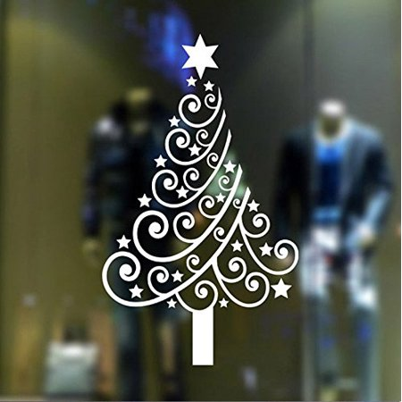 Christmas Window Decals.Decal Christmas Decal Christmas Tree 3 Wall Or Window Decal 20 X 34 White