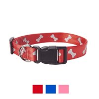 Vibrant Life Reflective Dog Collar with Bones
