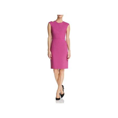 BOSS Hugo Boss Womens Danouk Shoulder Cutout Cap Sleeve Cocktail Dress