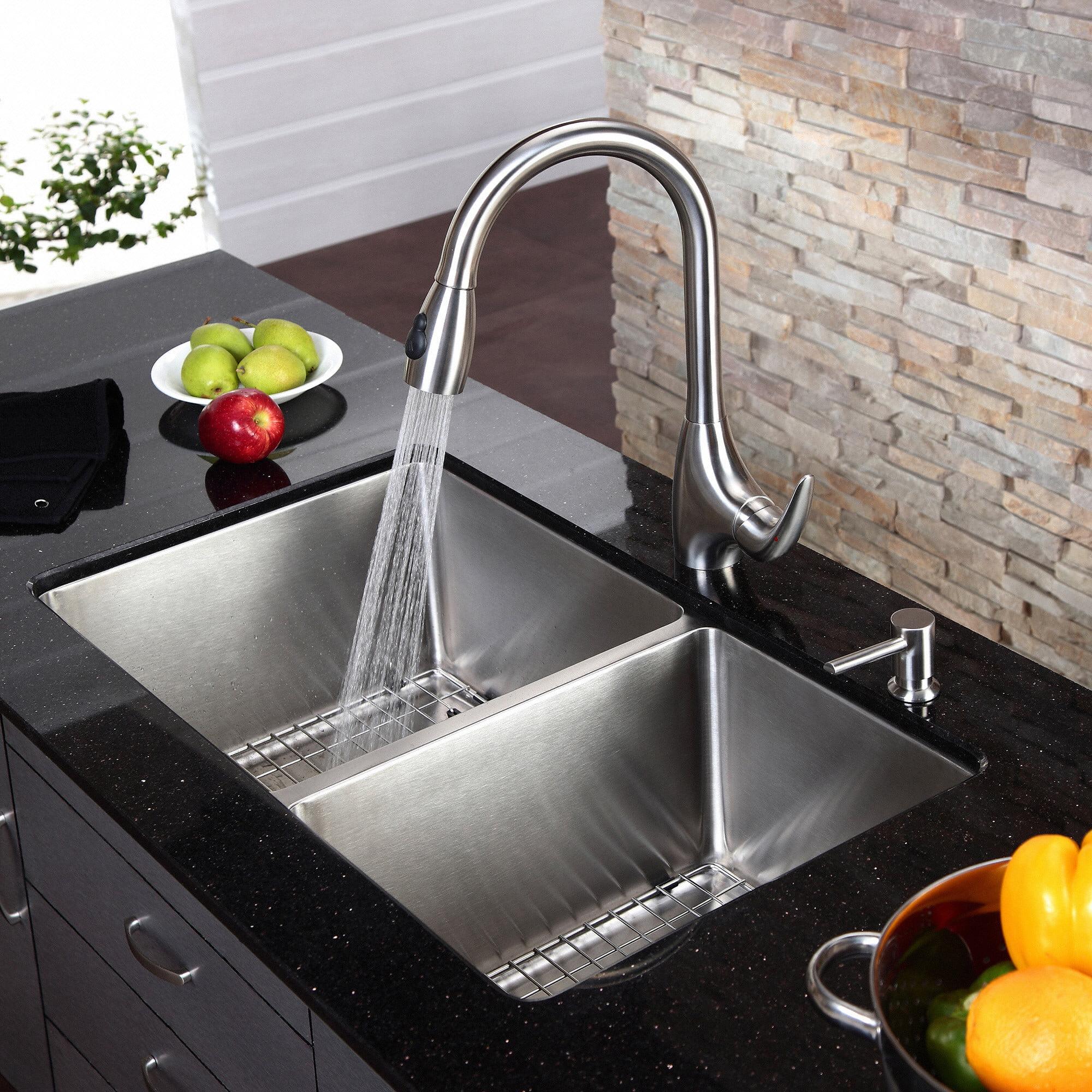 Kraus KHU103 33 Double Basin Undermount Kitchen Sink Walmart