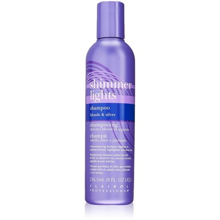 Clairol Professional Shimmer Lights Shampoo, Blonde & Silver 8 oz (Pack of (Best Silver Shampoo For Platinum Blonde Hair)