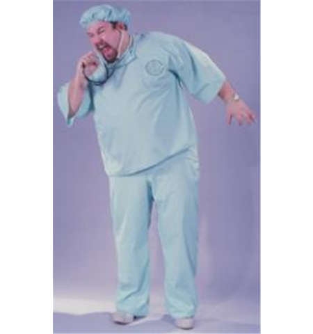 Dr Adult Plus Halloween Costume, Size: Up to 300 lbs - One Size