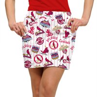 St. Louis Cardinals Loudmouth Women's Cooperstown Team Skort - White