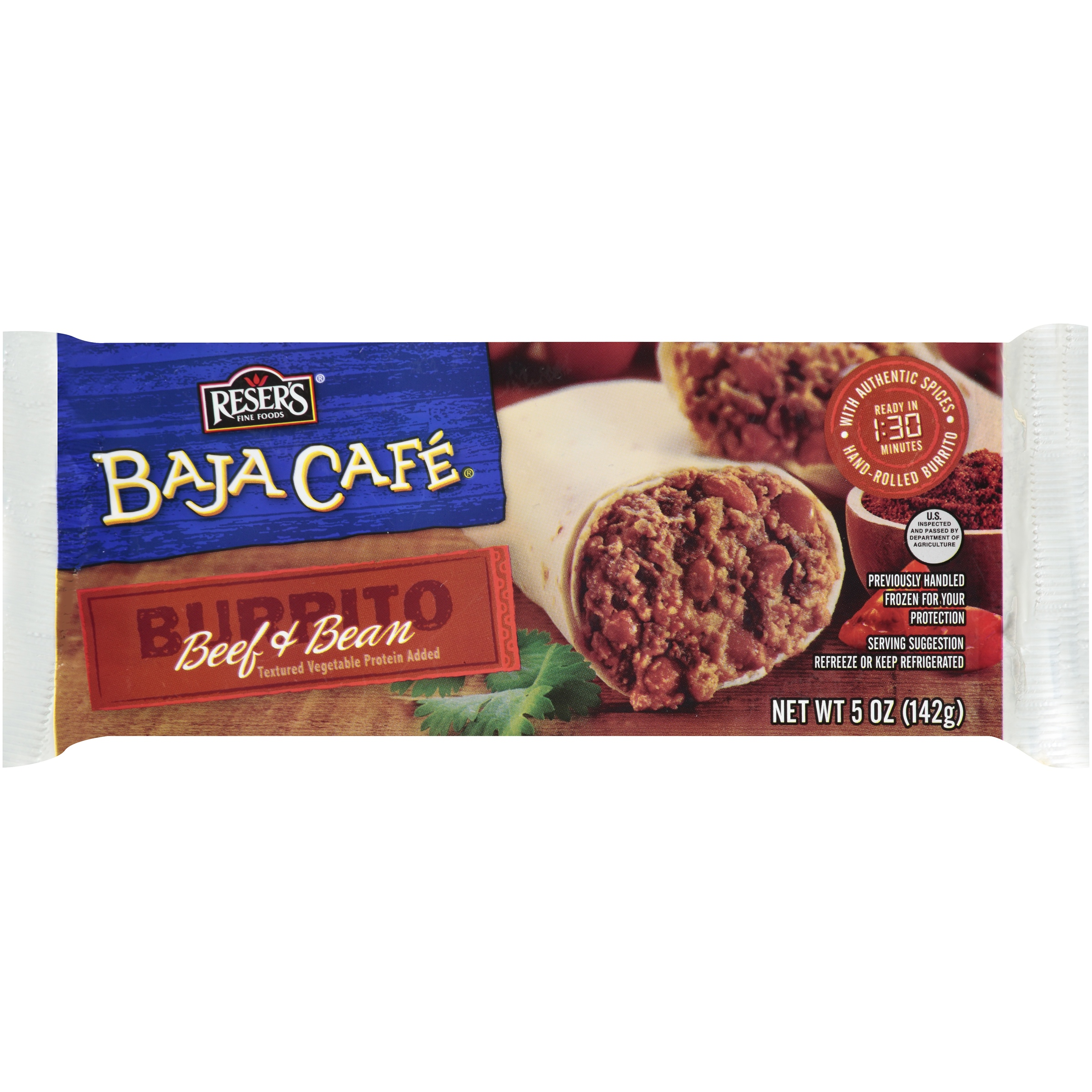 Baja Cafe® Beef & Bean Burrito 5 oz.