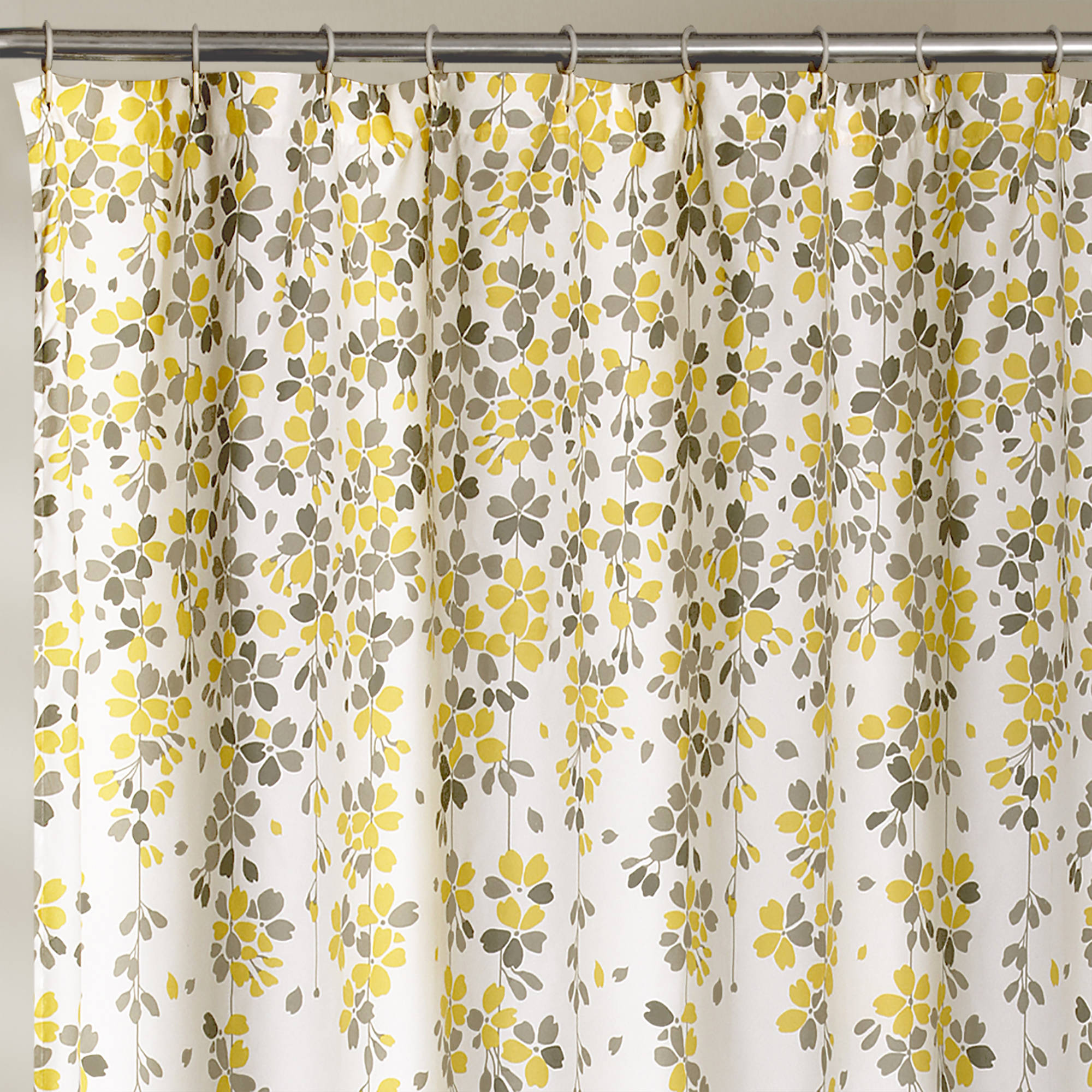 Weeping Flower Shower Curtain Yellow Gray