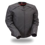 Mens Leather Motorcycle Racing Jacket