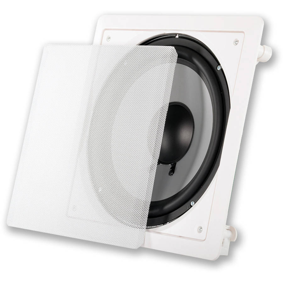 """Acoustic Audio CSiw10sub 10"""" Square In-Wall Subwoofer"""