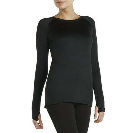 ClimateRight by Cuddl Duds Women's and Women's Plus Plush Warmth Long Underwear Top ()