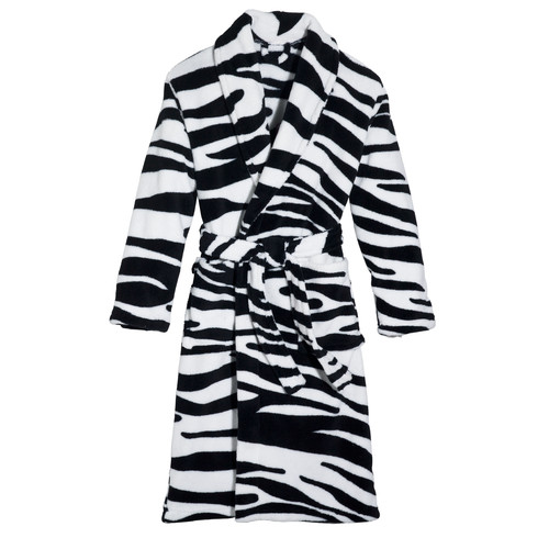 Three Cheers For Girls Wild Zebra Robe