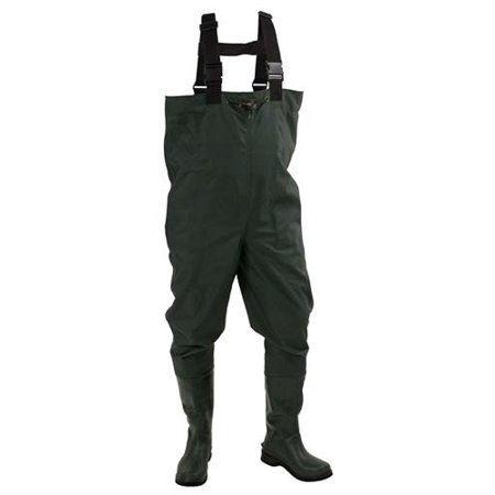 Frogg toggs cascades 2 ply rubber bootfoot waders for Walmart fishing waders