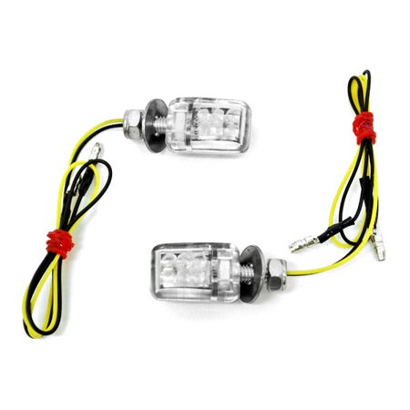 Krator Mini Custom LED Turn Signal Indicator Lights Lamp For Triumph Daytona Scrambler Bonneville