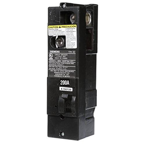 siemens qs2200 qs type 200-amp multi-family main breaker, 10 kaic rated