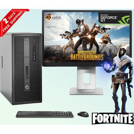 Gaming Computer HP G2 Desktop Tower PC Intel Core i5 6th Gen. Processor, 16GB DDR4 Ram, 2TB HDD, 256 GB M.2 SSD, NVIDIA GeForce GT 1030 DDR5, New 22 inch LCD, Bto WiFi, Windows 10 (Refurbished)