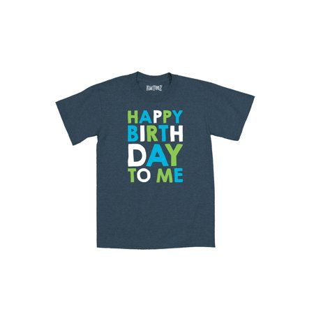 Happy Birthday To Me Stacked Blue Green Fun Kids Cute Novelty-Youth T-Shirt - Happy Birthday Kids