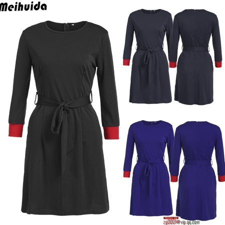 (New Autumn Winter New Women Bandage Bodycon Long Sleeve Evening Party Cocktail Club Short Mini Dress)
