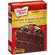 Duncan Hines Moist Deluxe Swiss Chocolate Cake Mix, 18.25 oz