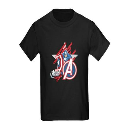 CafePress - Avenger Captain America - Kids Dark T-Shirt
