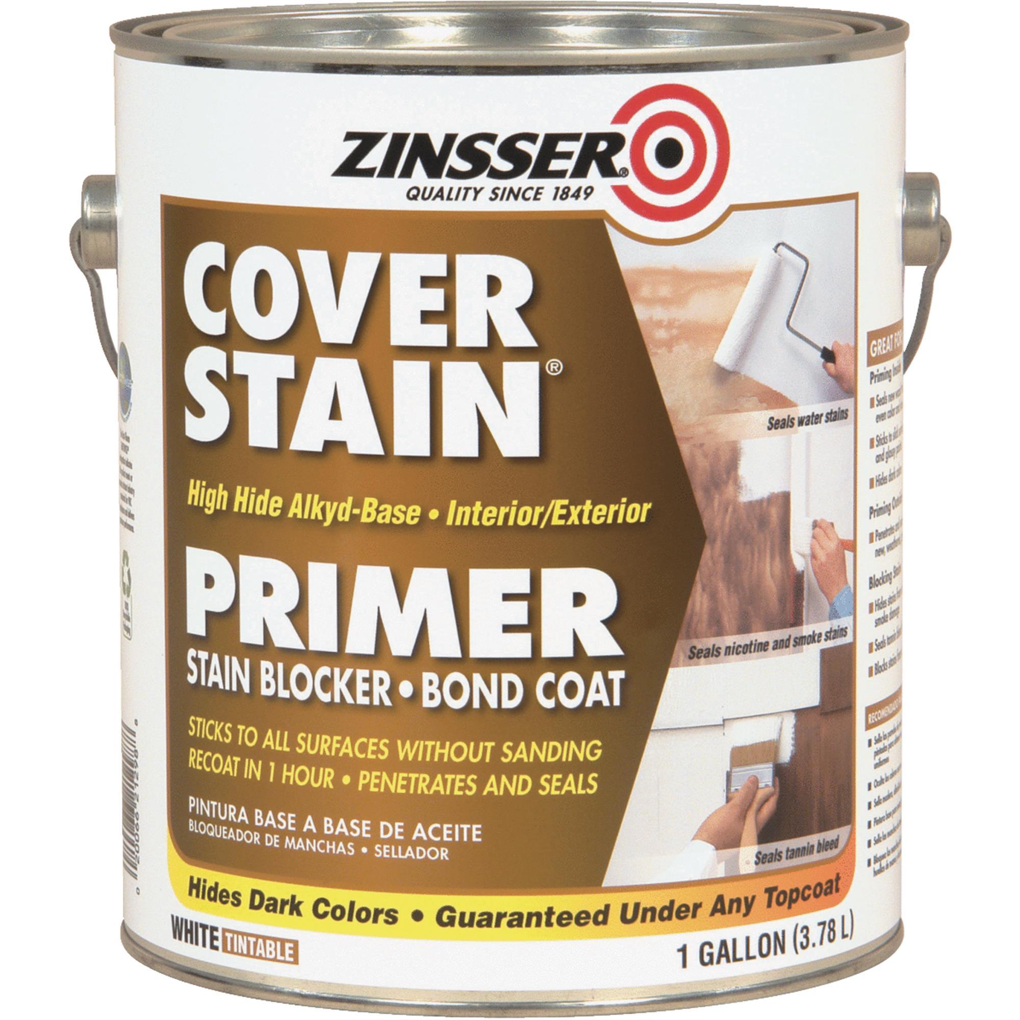 Zinsser Cover-Stain Low VOC High Hide Alkyd-Base Interior/Exterior Stain Blocker Primer