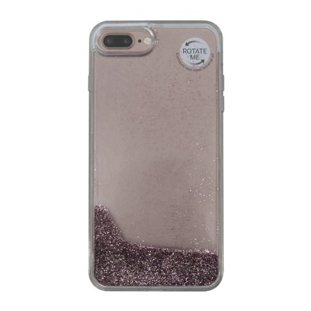 buy popular 784a7 0570f Onn Lightweight Slim Clear Case For iPhone 7 Plus/8 Plus, Rose Gold Glitter