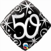 18 Elegant Sparkles 50TH Birthday Mylar Foil Balloon Party Decoration