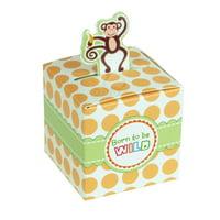 Monkey Safari Animal Baby Shower Favor Boxes, 2-Inch, 12-Piece