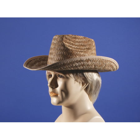 Loftus Rodeo Classic Straw Adult Costume Cowboy Hat, Brown, One - Costume Cowboy Hat