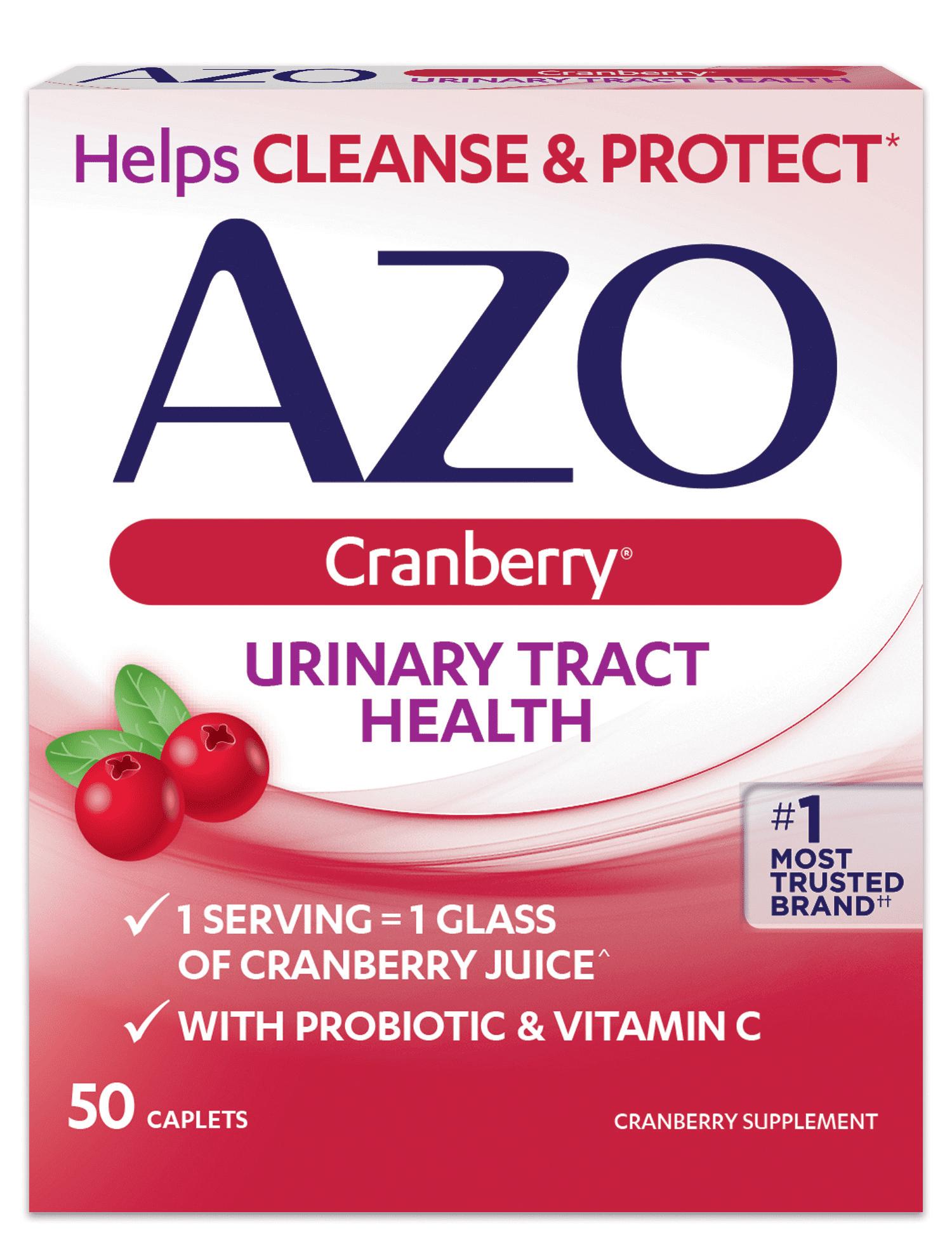 Azo Cranberry Urinary Tract Health Caplets 50 Ct Walmart