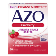 AZO Cranberry Caplets, Urinary Tract Health, Helps Cleanse & Protect, 50 ct