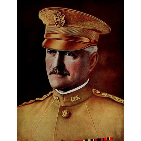 Historys Greatest War 1919 Pershing C In C Of Us Forces Abroad Canvas Art   Unknown  24 X 36