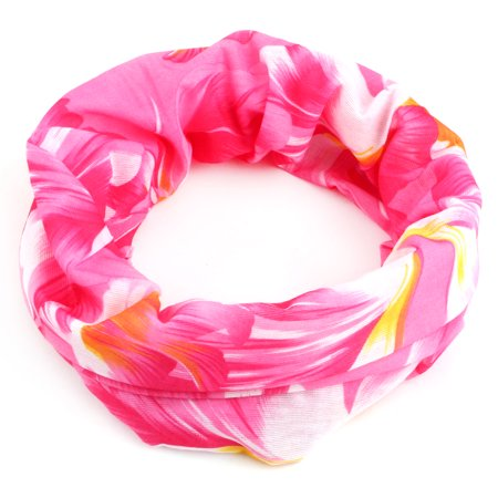 Prana Spandex Headband - Spandex Floral Pattern Stretchy Scarf Neck Wrap Gaiter Tube Headband Face Mask