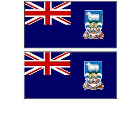 Nylon Eyelet - 2 Falkland Islands Flag Magnets Refrigerator Locker Toolbox Appliances, Eyelets Nylon United FALKLANDS Vehicles Design States inches Pack FRIDGE MagnetsTwo.., By Gary Overton