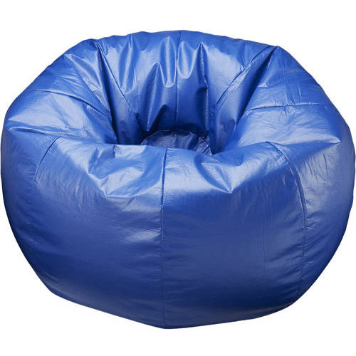 "132"" Round Extra Large Shiny Bean Bag, Multiple Colors"