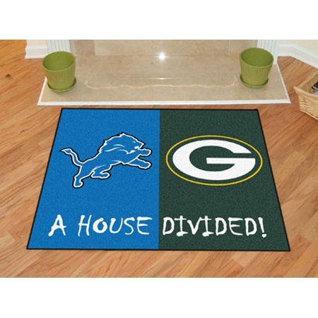 Field Denver Broncos Football Rug - NFL - Lions - Packers House Divided Rug 33.75